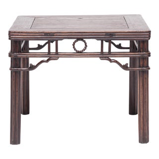 19th Century Chinese Square Chrysanthemum Table For Sale