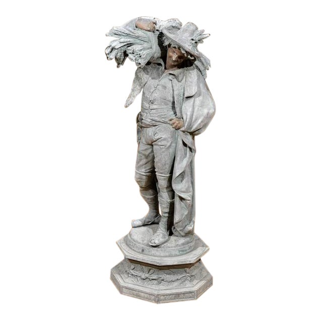 """Magnificent 19th Century Bronze """"Poitevin"""" by Albert-Ernest Carrier-Belleuse For Sale"""