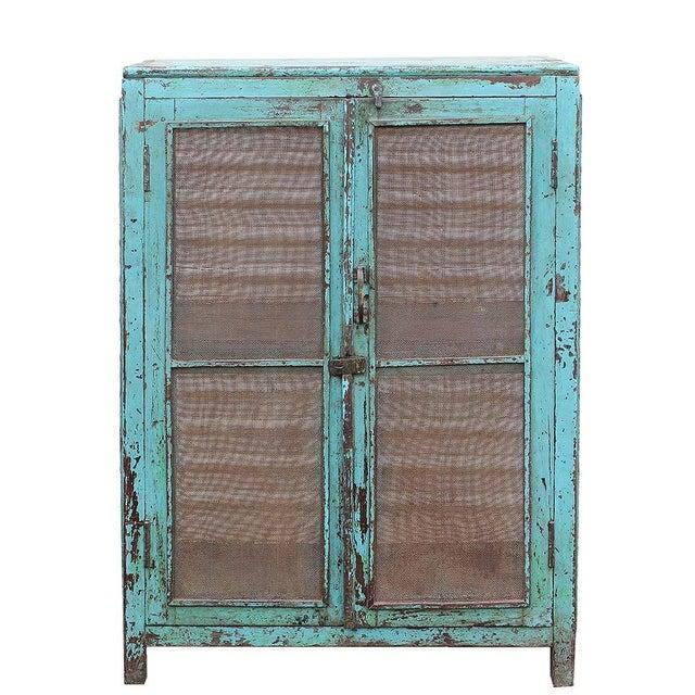 Teal Vintage Baker's Cabinet II - Image 1 of 5