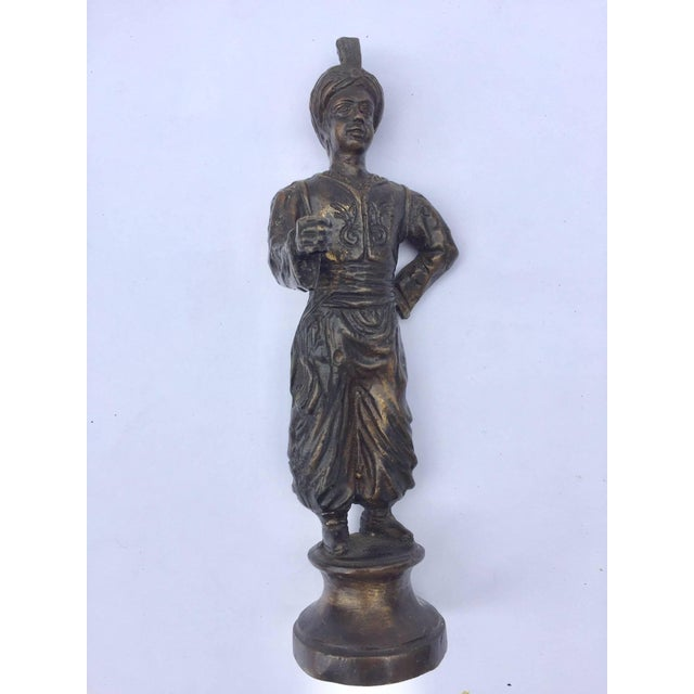 Orientalist Patinated Bronze Figure of a Turkish Young Man For Sale - Image 13 of 13