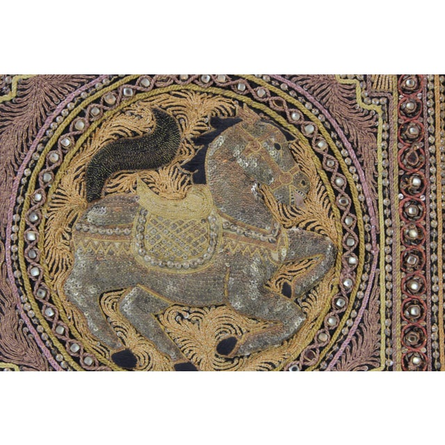 Pasargad DC Hand Made India Beaded Gazelle Raised Wall Art - a Pair For Sale - Image 10 of 12