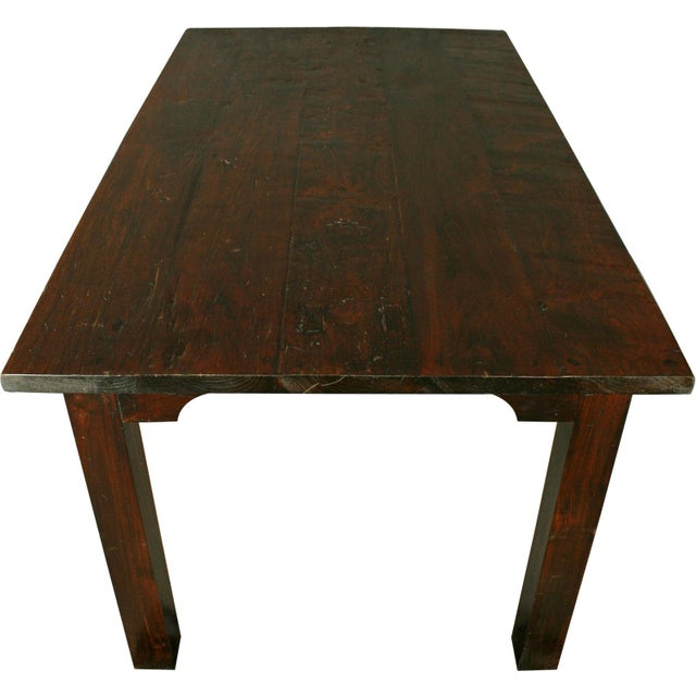 French Country Plank-Top Dining Table - Image 8 of 8