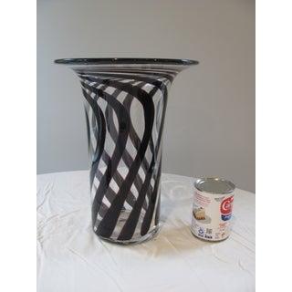 """Anthony Stern 12"""" High Blown Glass Trumpet Vase British Artist Preview"""