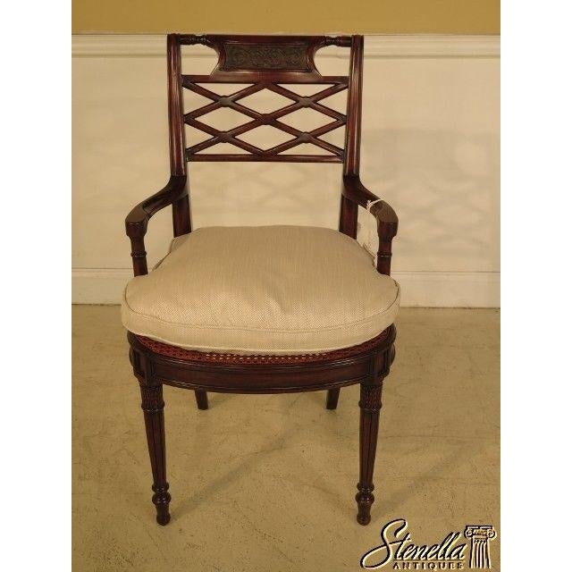 Traditional Theodore Alexander Pair Regency Mahogany Arm Chairs #4100-236 For Sale - Image 3 of 11