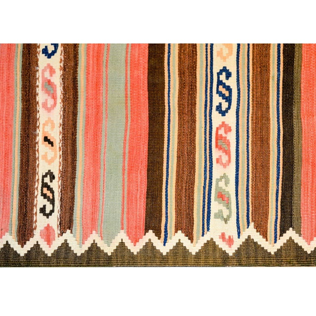 1940s Early 20th Century Shahsevan Kilim Runner For Sale - Image 5 of 7
