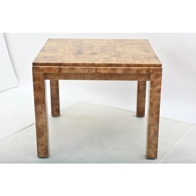 """Karl Springer Fine American Modern """"Goatskin"""" Game Table/Extension Dining Table, Karl Springer For Sale - Image 4 of 10"""