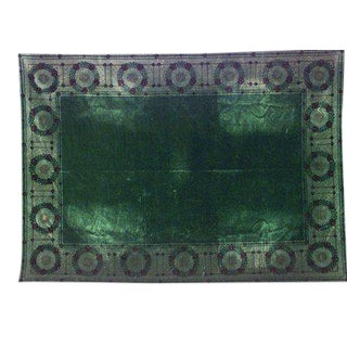 English Arts & Crafts Green Table Cover For Sale