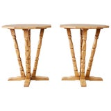 Image of Pair of California Rancho Monterey Drink Tables For Sale