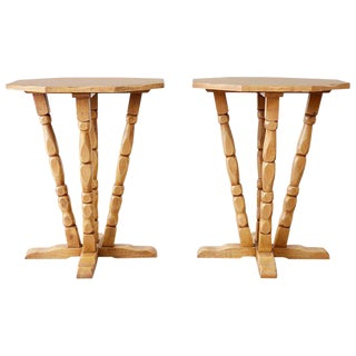 Pair of California Rancho Monterey Drink Tables For Sale