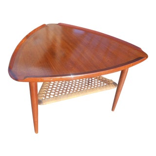 Poul Jensen for Selig Mid-Century Danish Modern Guitar Pick Side Table For Sale