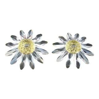 Swarovski Crystal Daises -a Pair For Sale