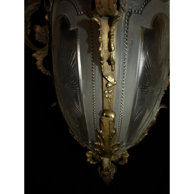 Antique Chandelier. French Lantern - Image 8 of 11