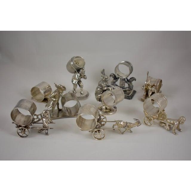 Victorian Boy & Cart Silver Figural Napkin Ring/Holder For Sale - Image 10 of 11