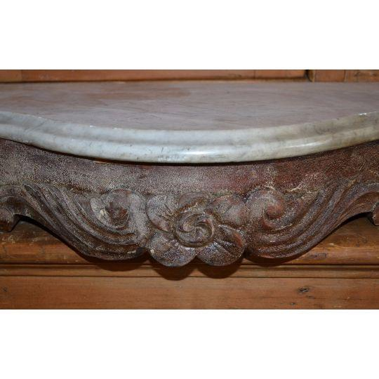 Marble Topped Wall Consoles - Pair - Image 5 of 6
