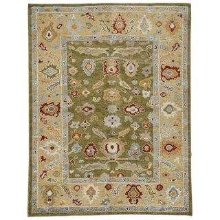 20th Century Contemporary Turkish Oushak Area Rug - 5′4″ × 7′ For Sale