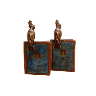 Antique 1922 'Atlas of the World' Bronze Bookends, a Pair For Sale