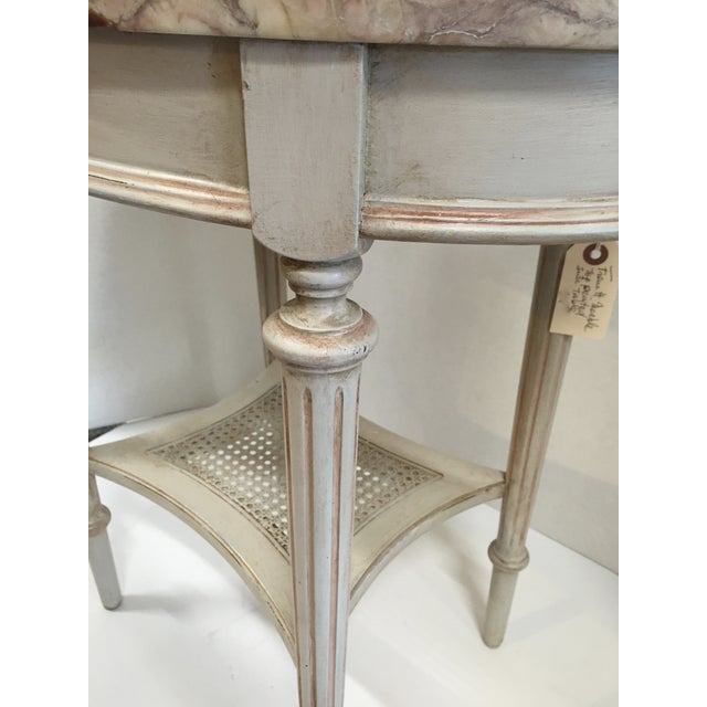 French Marble Top Side Table - Image 10 of 10