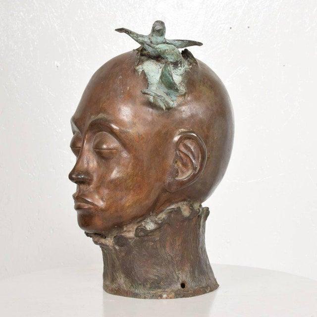 Bronze Surrealist Bronze Sculpture, Mexico, 1960s For Sale - Image 7 of 13