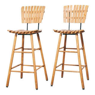 Pair of Umanoff Style Bar Stools For Sale