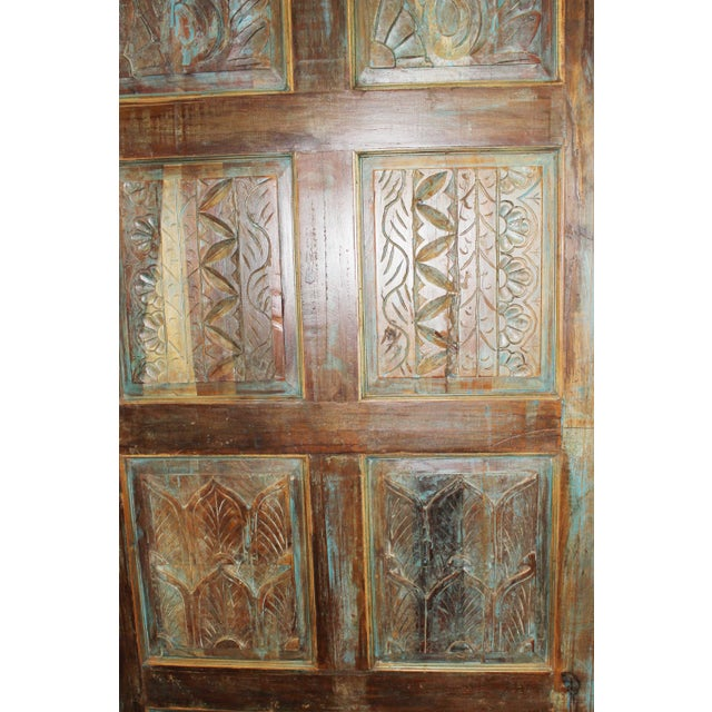 19th Century Antique Carved Wooden Door For Sale - Image 5 of 6
