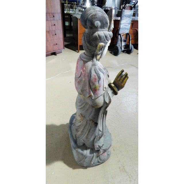 Early 20th Century Figural Oriental Marble Statue For Sale In Philadelphia - Image 6 of 7