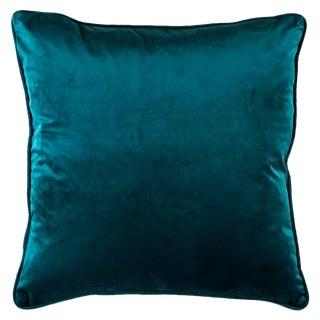 Velvet Green Teal Pillow Cover For Sale