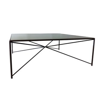 Jax Steel & Mirror Top Coffee Table For Sale