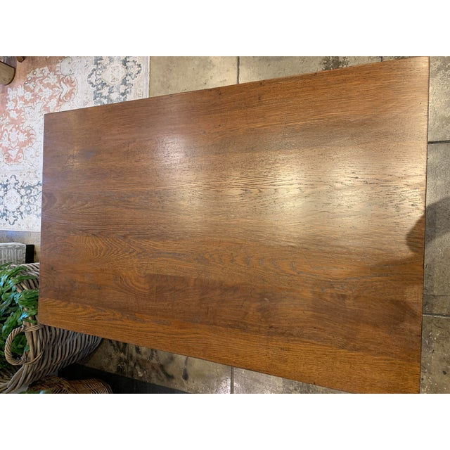 Wood Antique Primitive Dining Table For Sale - Image 7 of 10