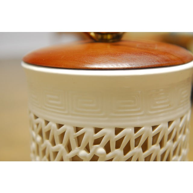 Blanc De Chine Reticulated Porcelain Table Lamp - Image 5 of 7