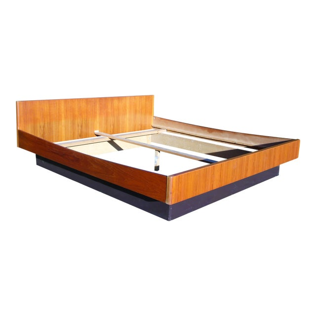 Danish Modern Teak King Platform Bed - Image 1 of 11