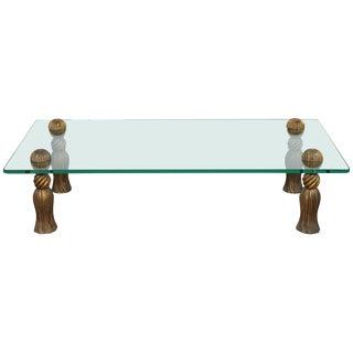 1960s Mid-Century Modern Arthur Court Tassel Coffee Table For Sale