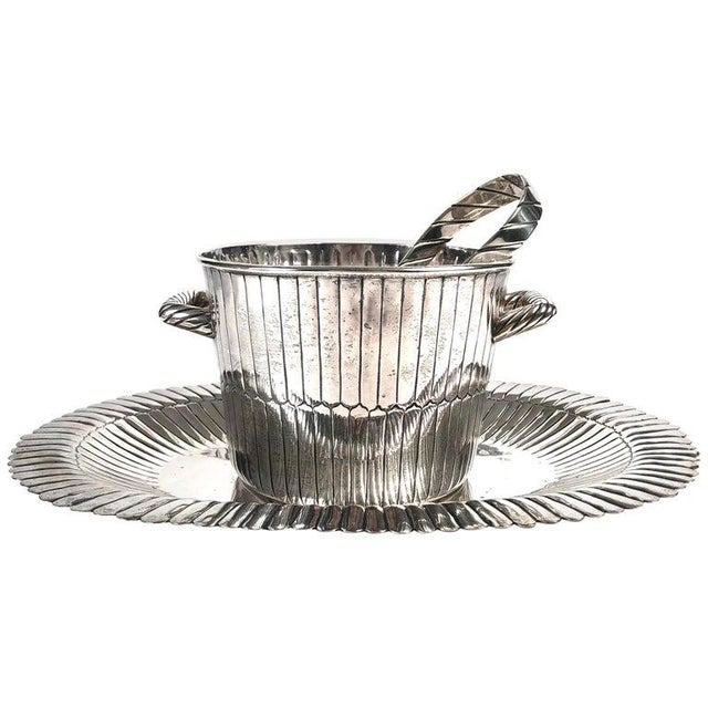 Sanborns Mexican Sterling Silver Ice Bucket With Tongs and Tray For Sale - Image 13 of 13