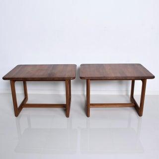 Mid Century Danish Modern Solid Teak Side Tables Finn Juhl Attr Preview