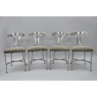 Shaver Howard 5 Piece Steel Modern Dining Set Round Glass Top Table 4 Chairs Preview
