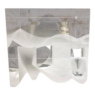 Steven Weinberg Contemporary Modern Cast Glass Cube Sculpture For Sale