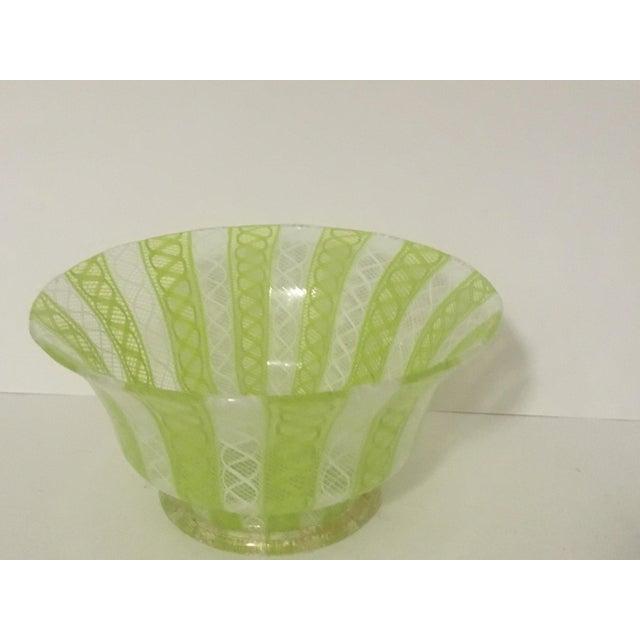 Latticino Italian Glass Bowl - Image 4 of 8