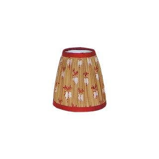 Tan/Orange Silk Sari Gathered Sconce Shade For Sale
