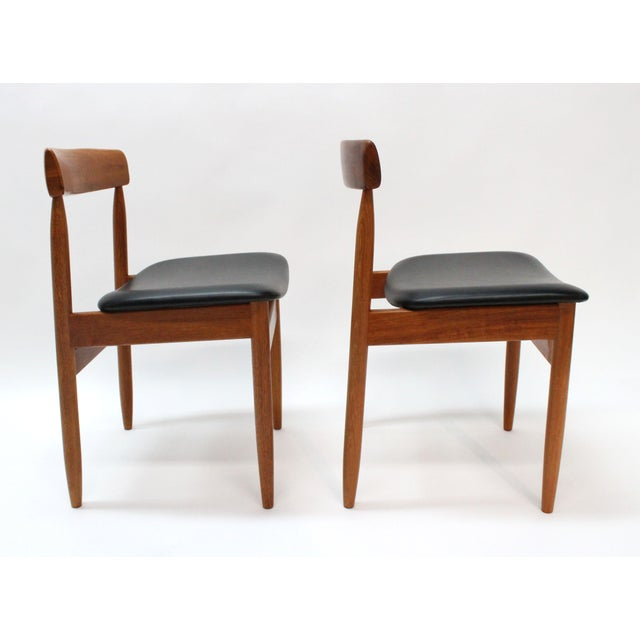 1977 Mid-Century Danish Style Teak Chairs - A Pair - Image 4 of 6