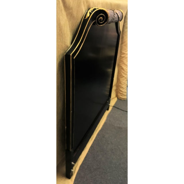 Metal Vintage Art Deco Twin Headboard With Light For Sale - Image 7 of 13