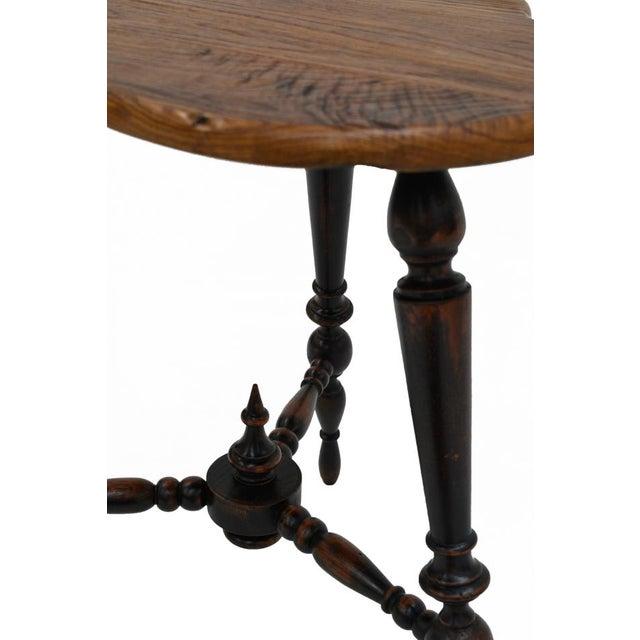 Sarreid Ltd. Turned Leg Tripod Side Table - Image 3 of 5