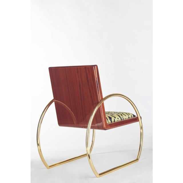 Brass Customizable D-Ring Lounge Chair For Sale - Image 7 of 9