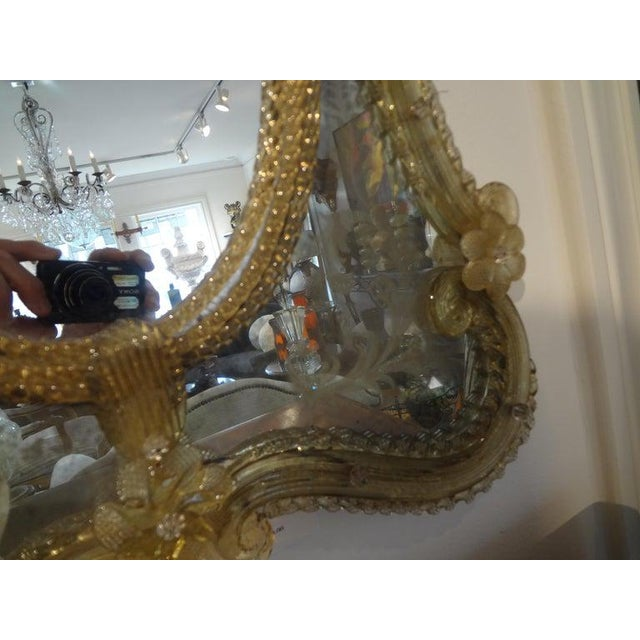 Antique Etched Venetian Mirror For Sale - Image 10 of 13