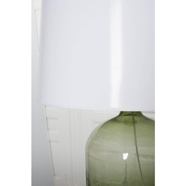 Gold French 19th Century Green Glass Demijohn Lamp For Sale - Image 8 of 9