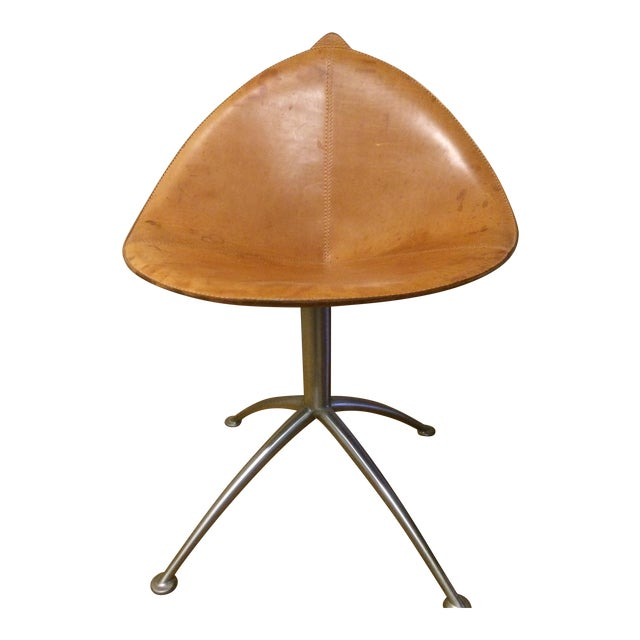 Contemporary Leather Fasem Chair - Image 1 of 8