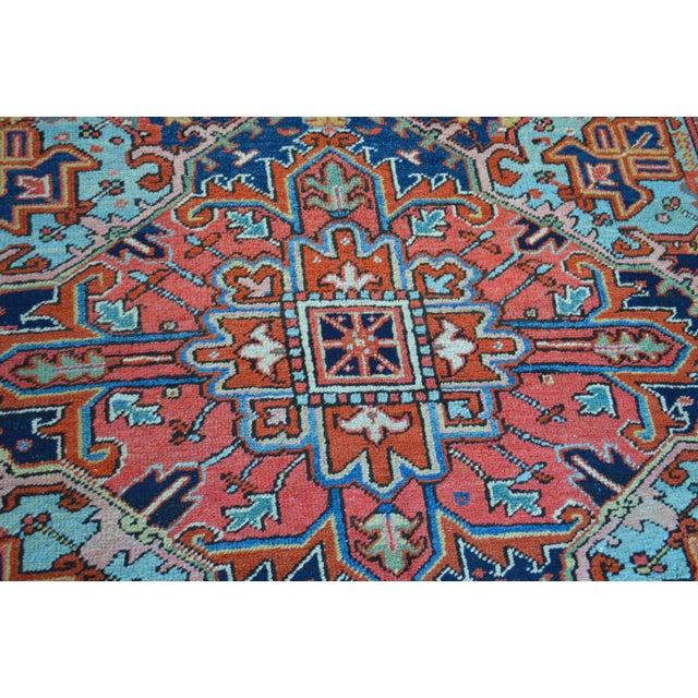 """Antique Persian Heriz Rug - 8'1"""" x 11'2"""" - Image 5 of 7"""