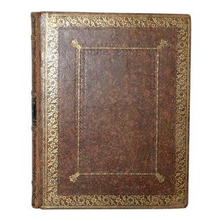 Mid 19th Century Leather-Bound Ladies Album, Philadelphia 1835 For Sale