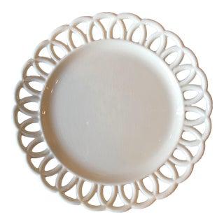 19th c. Swedish Creamware Loop Edge Plate For Sale