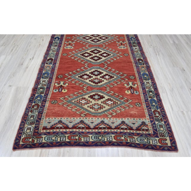Vintage Oushak Wool Hand Knotted Rug - 4′6″ × 8′1″ - Image 5 of 11