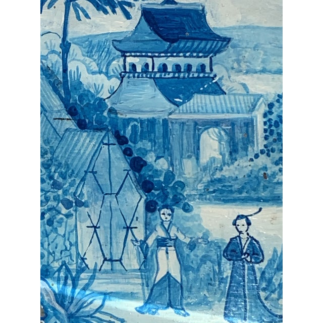 Blue Tole French Style Chinoiserie Planter For Sale - Image 4 of 11
