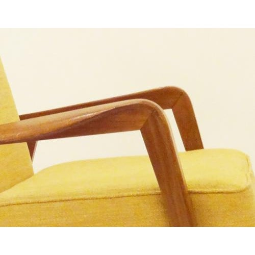 Yellow Etienne Henri Martin Pair of Modernist Reclining Lounge Chairs in Oak, edited by Steiner For Sale - Image 8 of 9
